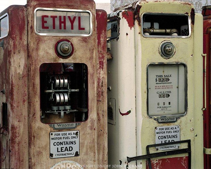 antique gas pumps