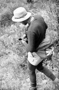 John B. Crane in the Weminuche Wilderness, southern Colorado's San Juan range, 1985
