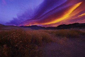 Sunrise, Sangre de Cristo Mountains, San Luis Valley, Colorado