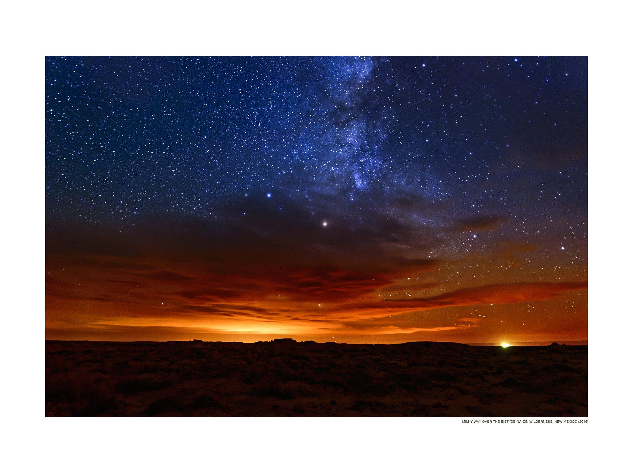 Milky Way over the Bisti/De-Na-Zin Wilderness, San Juan County, New Mexico (2016)