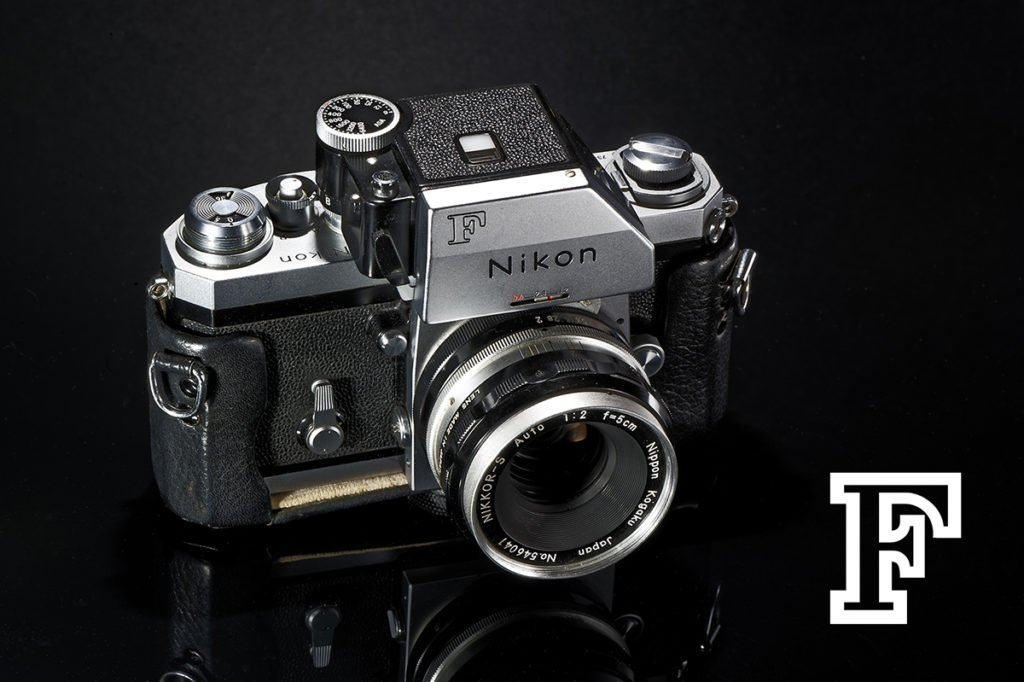 The Nikon F with FTn finder and 50mm lens.