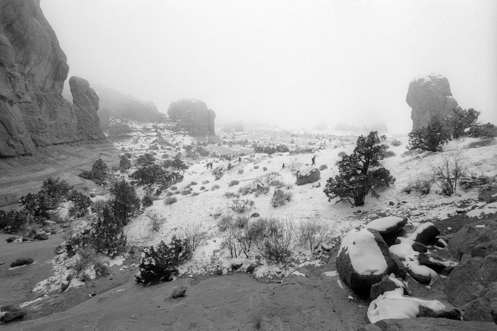 From Double Arch, Arches National Park, Utah