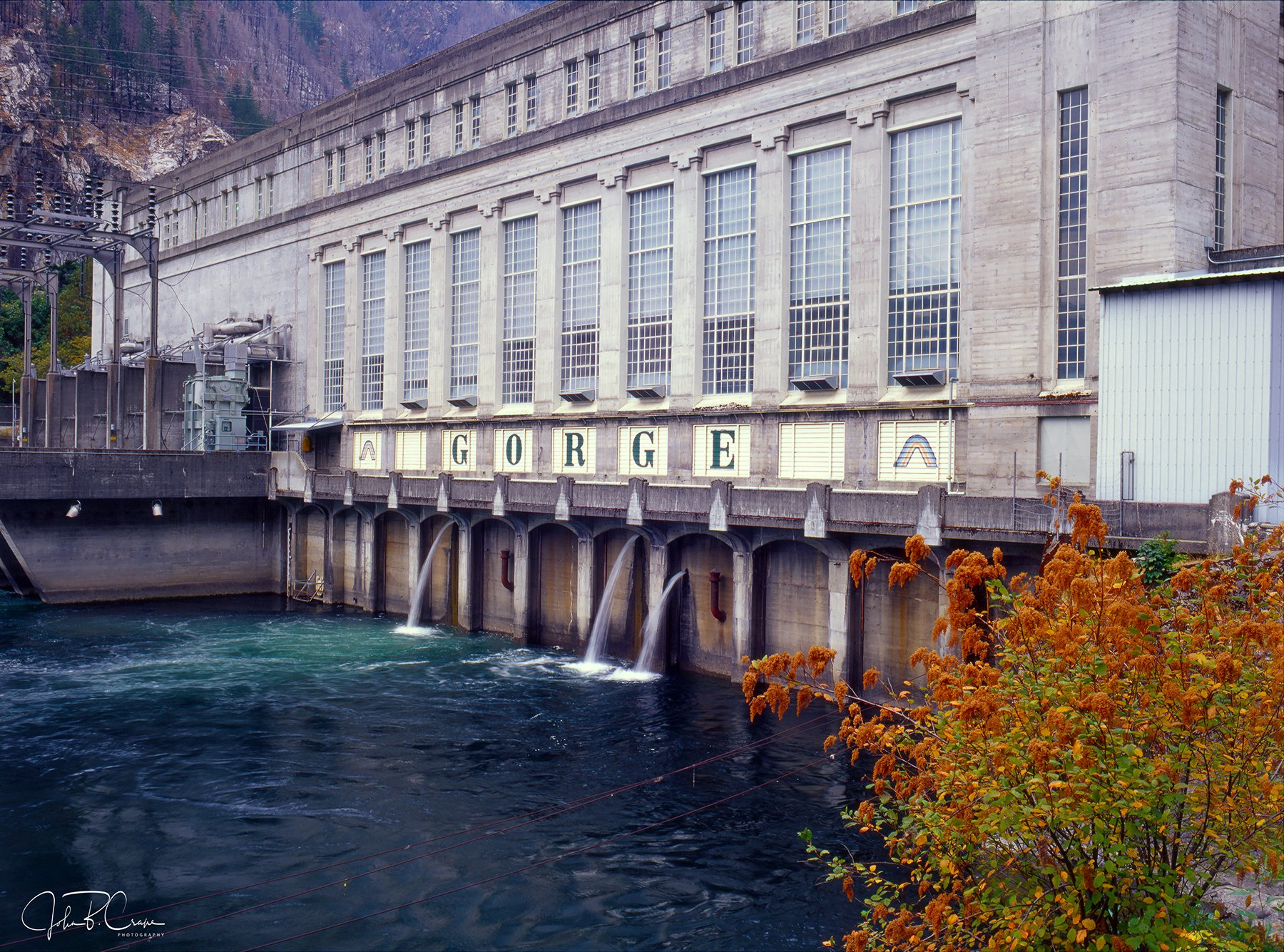 Gorge Dam, Skagit River, North Cascades, Washington