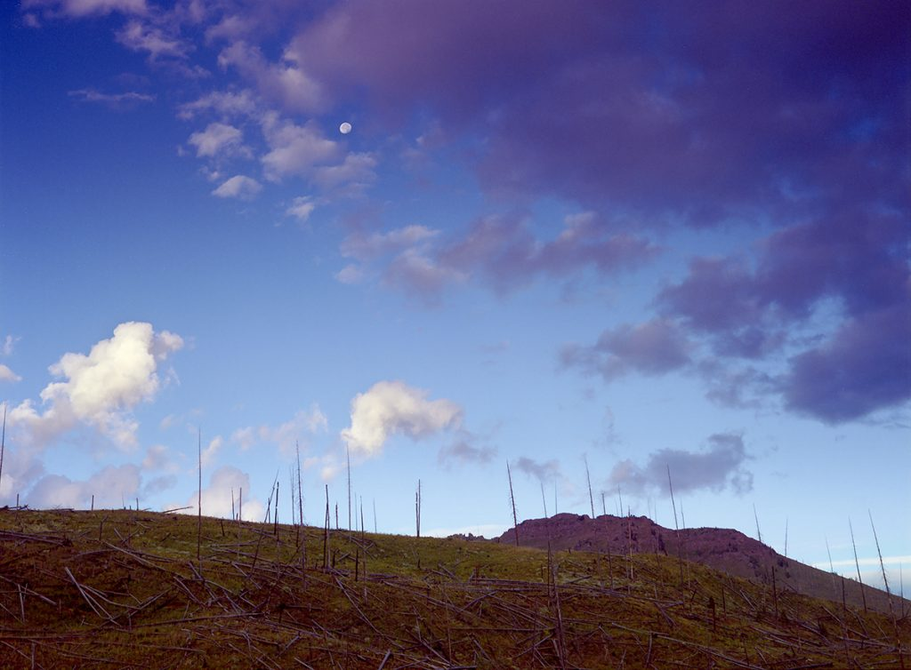 Moon Over Flat Tops, White River National Forest, Colorado.